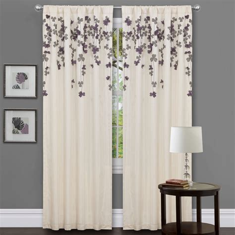Gray And Purple Curtains Ideas Purple Curtains With Grey Walls Curtain Menzilperde Net