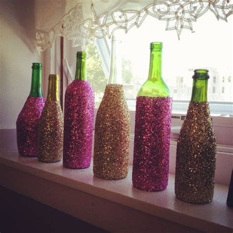 Decorating Glass With Glitter by Glitter Glass Wine Bottles Decorative Wine Bottles Wine