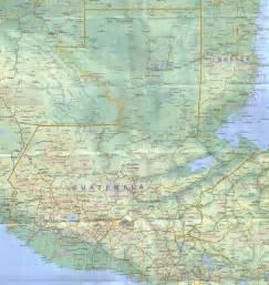 large detailed road map of guatemala guatemala large