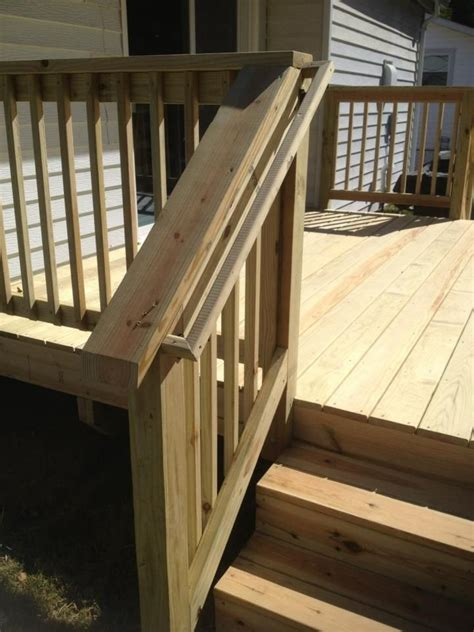 deck railing ideas images  pinterest
