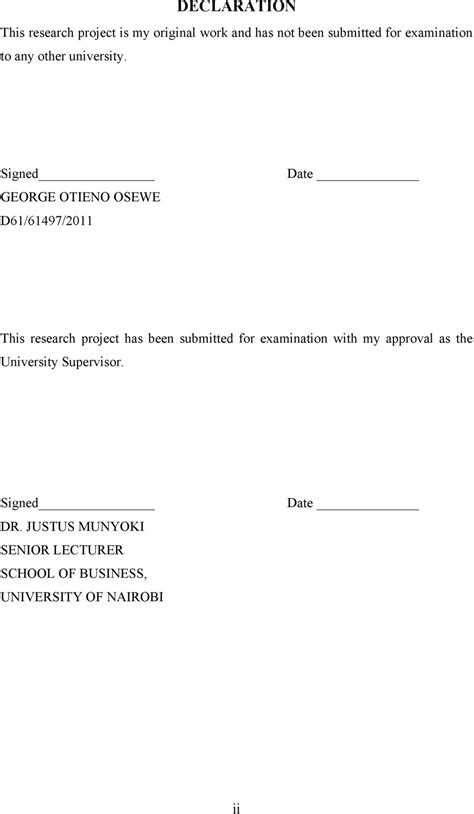Of Nairobi Mba Project Guidelines by The Effectiveness Of Advertising On Consumer