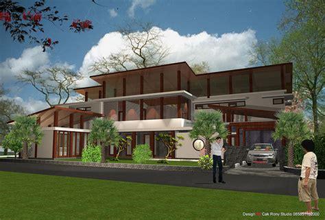 layout villa minimalis design rumah minimalis tropis terbaru roni architect