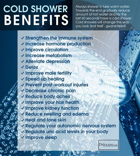 Benefits Of A Shower take a cold shower for your health drjockers