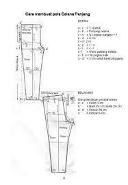 arisanti pola dasar celana wanita sewing