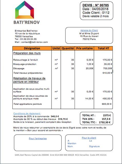 Devis Pour Travaux Appartement 3706 by Prix De Travaux De Peinture D Int 233 Rieur Et Exemple De Devis