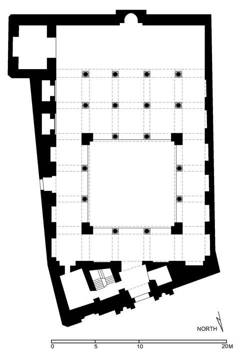 Floor Plan Drawing Program floor plan of aqmar mosque cairo archnet