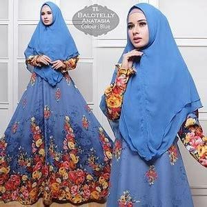 Fashion Wanita Muslim Setelan Gamis Syari Pashmina Rivada Bahan Jersey model baju setelan gamis muslim wanita terbaru dan modern