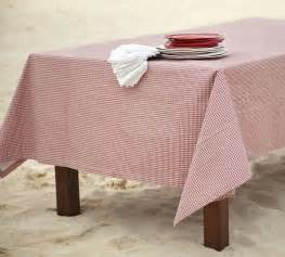 Patio Table Tablecloths Gingham Check Outdoor Tablecloth Traditional Tablecloths By Pottery Barn
