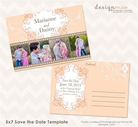 Save The Date Photo Card Templates by Save The Date 5x7 Photo Card Template Instant