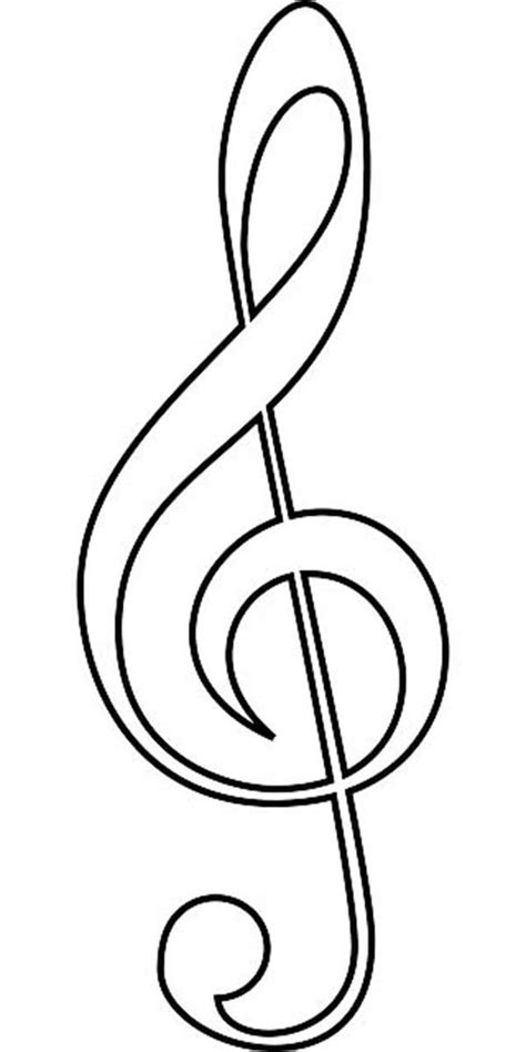 clef of music notes coloring page free printable coloring