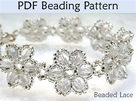 how to make a beaded flower necklace beading tutorial pattern bracelet necklace flowers