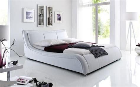 Bett 0 90x1 80 by Designer Lederbett Polsterbett Quot Selina Quot Bett Weiss Oder