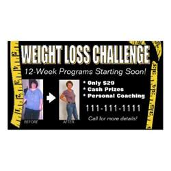 weight loss business cards weight loss challenge business card zazzle