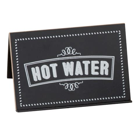 hot beverages 3 letters cal mil 3047 3 chalkboard beverage sign with quot hot water