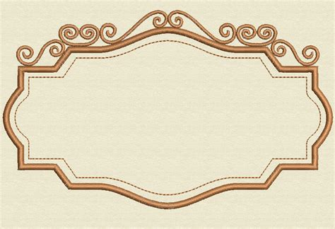 pattern with frame vintage frame embroidery design 2 sizes by johann esteban