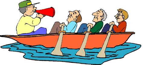 cartoon rowing boat management rowing clipart cliparts co