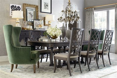 Bassett Dining Room Furniture Emporium Rectangular Dining Table By Bassett Furniture Traditional Dining Room
