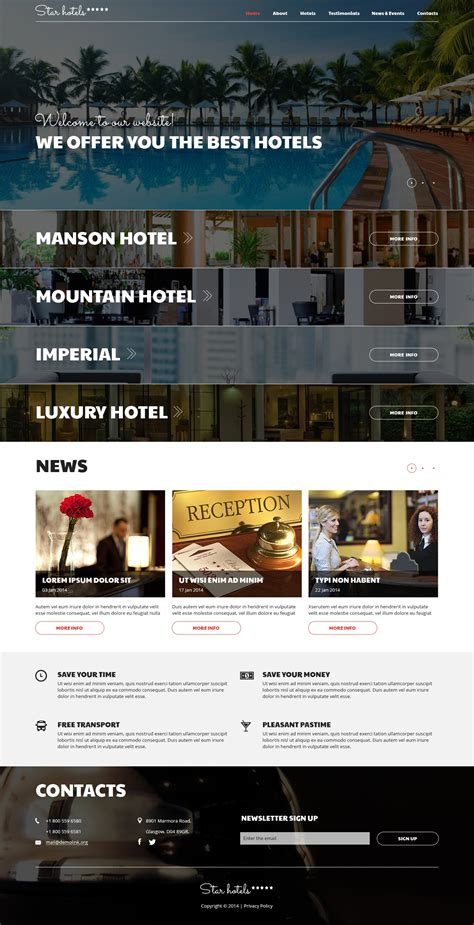 joomla template hotel free download hotels responsive joomla template 50927