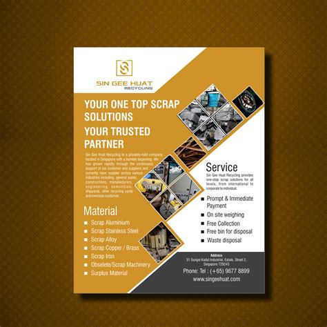 design inspiration one page professional playful brochure design for sin gee huat
