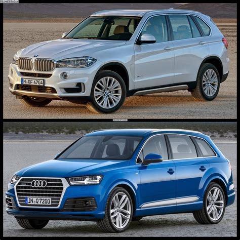 Bmw X5 Vs Audi Q7 by 2015 Audi Q7 Vs 2015 Bmw X5 Photo Comparison