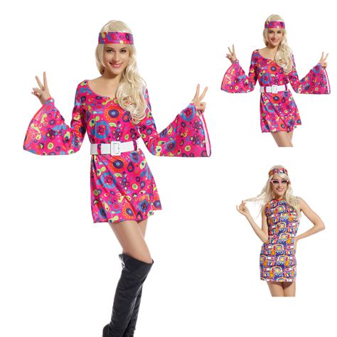 girls flower power hippie costume halloweencostumescom girls 60s 70s go go retro hippie dancing groovy hippy