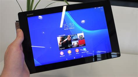 Tablet Sony Xperia Z2 sony xperia z2 tablet on a familiar waterproof