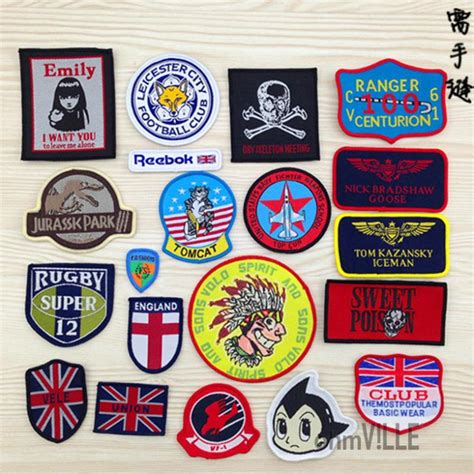 Iron On Stickers export quality iron on sew on diy embroidery cloth badge