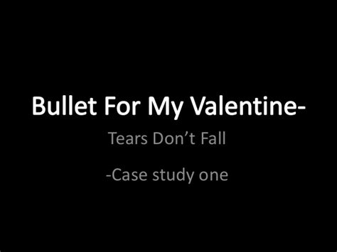 bullet for my tears dont fall album bullet for my