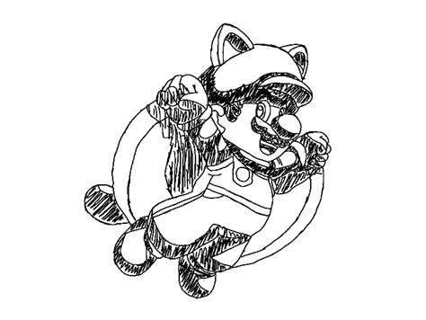 Squirrel Mario Coloring Pages   flying squirrel mario