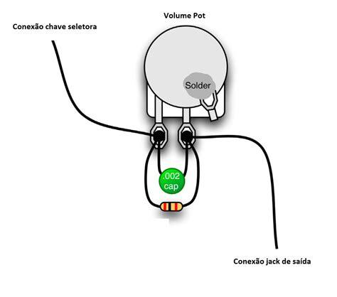 capacitor para tono de guitarra treble bleed o que 233 e como fazer