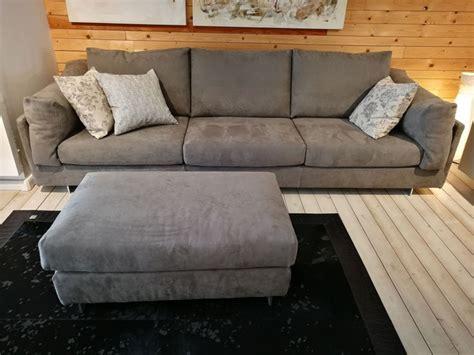 divani con pouf divano zeno con pouf di biba salotti a prezzo outlet