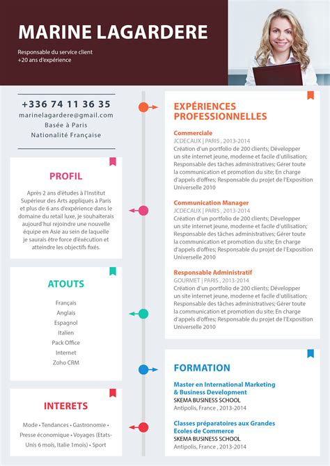 Exemple De Cv Simple Gratuit by Modele Gratuit Cv Modele De Cv Simple Alienbar