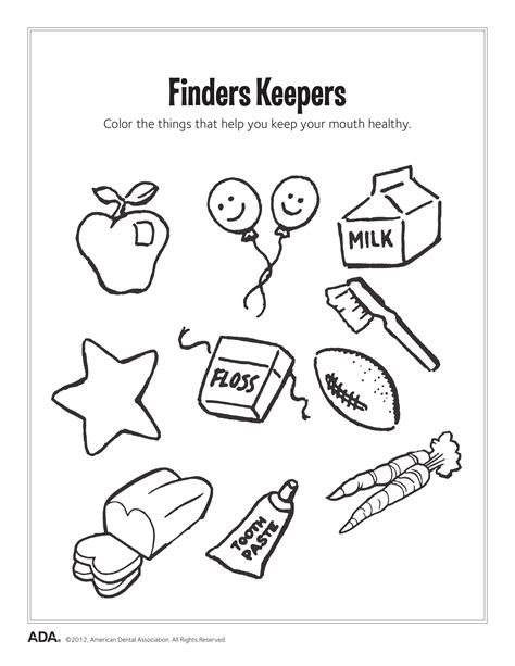 free personal hygiene coloring pages