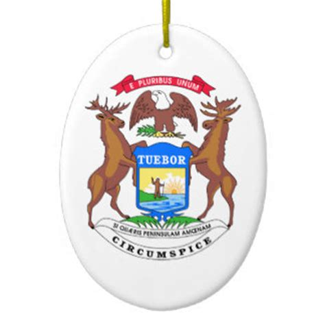Of Michigan Ornaments - michigan state seal ornaments