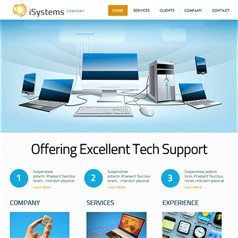 it company templates free website templates