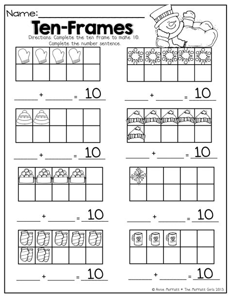 pattern matching multiple values ten frames math for winter different ways to make 10