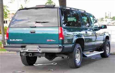 how things work cars 1996 gmc suburban 2500 interior lighting purchase used 1996 gmc suburban 2500 slt 4x4 loaded great condition perfect tow vehicle in