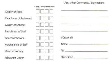 business comment card template how comment cards mislead you talktothemanager
