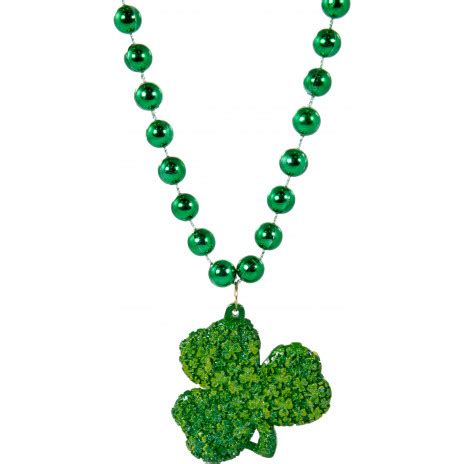 shamrock bead clover covered shamrock bead necklace pst1975 1233