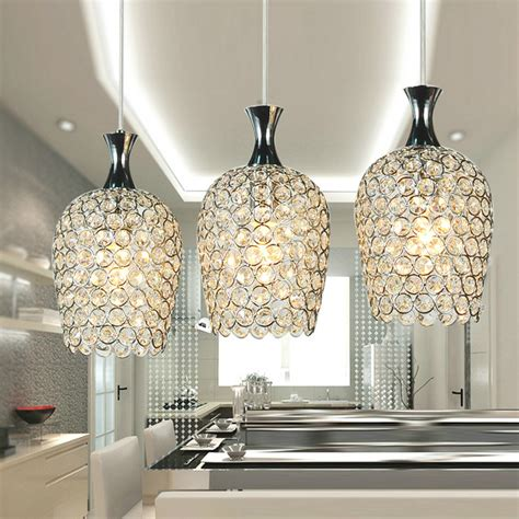 contemporary pendant lights for kitchen island mamei free shipping modern 3 lights crystal pendant