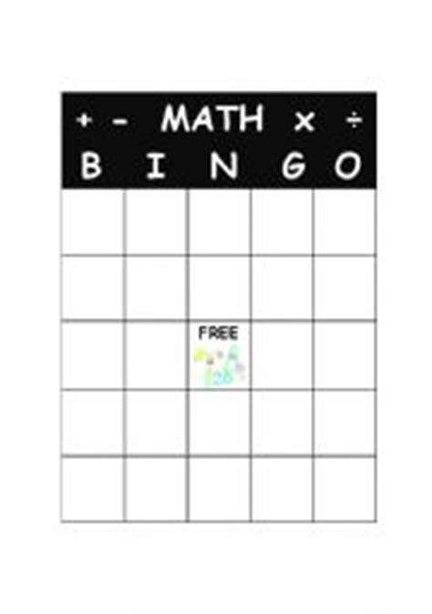 Math Bingo Card Template by Bingo Blank Board Search Results Calendar 2015