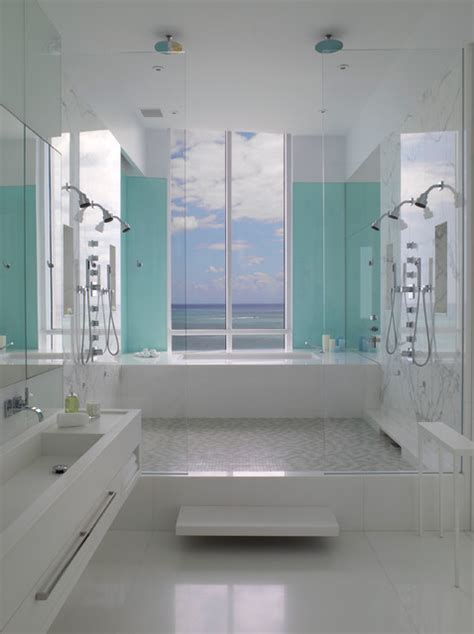 Modern Bathroom Miami Post Designed Apartment At The Bath Club Miami