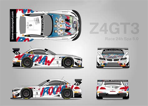Bmw Z4 Gt3 To Compete At 24 Hours Of Spa With Cartoon