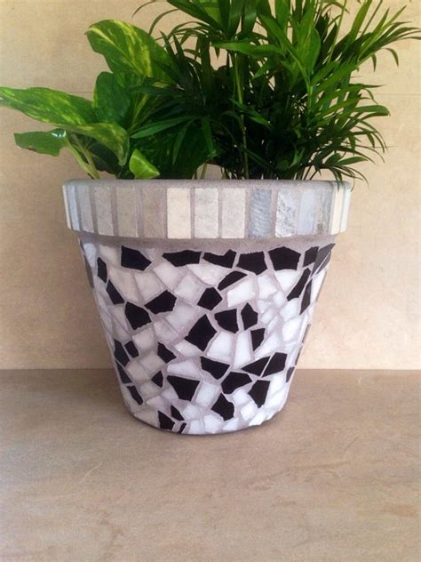 mosaic planter large flower pot indoor by mozehicdesigns