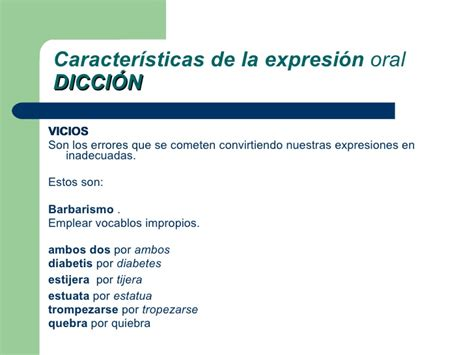la expresin oral expresion oral