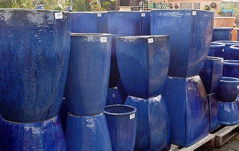 large glazed pots garden planters  vases woodside