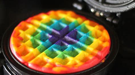 blue colored waffle rainbow waffles recipe tablespoon