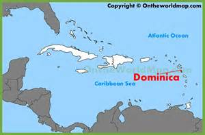 dominica on world map dominica location on the caribbean map