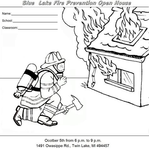 coloring page of house on fire fire safety book coloring page az coloring pages