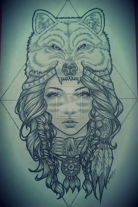 animal headdress tattoo headdress tattoo wolf headdress tattoo pinterest